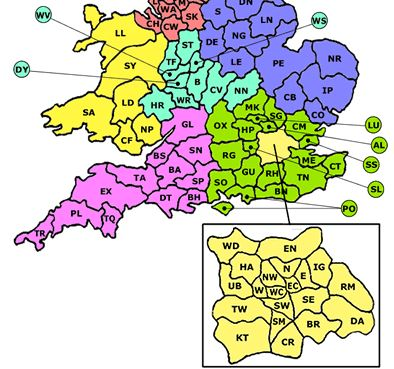 telephone area code map pdf