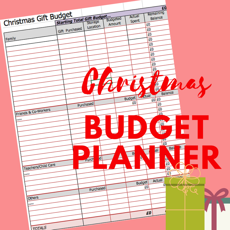 christmas budget planner in excel free download